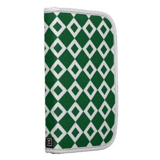 Green and White Diamond Pattern Organizer