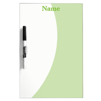 Green and White Dry Erase Board