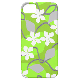 Green and White Flowers. Floral Pattern. Barely There iPhone 5 Case