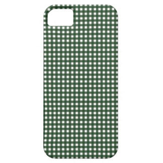 Green and White Gingham Case For The iPhone 5