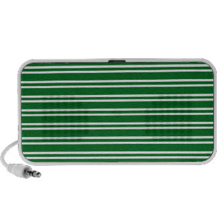 Green and White Horizontal Stripes Doodle Speaker