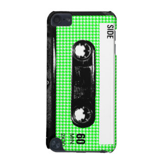 Green and White Houndstooth Label Cassette iPod Touch 5G Cover