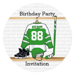 Green and White Ice Hockey Jersey Birthday Party