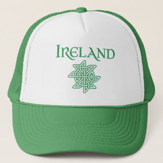 Green and White Irish Pride Celtic Knot Trucker Hat