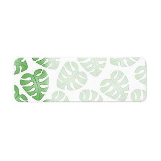 Green and White Leaf Pattern.