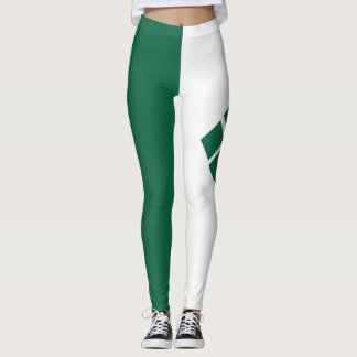 Green and White Leggings