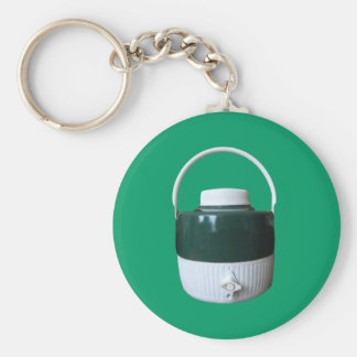 Green and White Picnic Jug Keychains