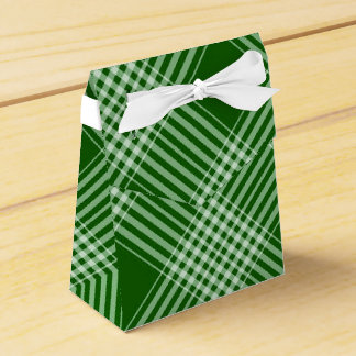 Green And White Plaid Wedding Favour Boxes