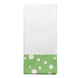 Green and White Polka Dot Napkins Set