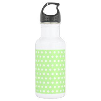Green and White Polka Dot Pattern. Spotty. 532 Ml Water Bottle