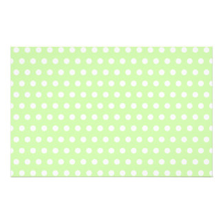 Green and White Polka Dot Pattern. Spotty. Flyer