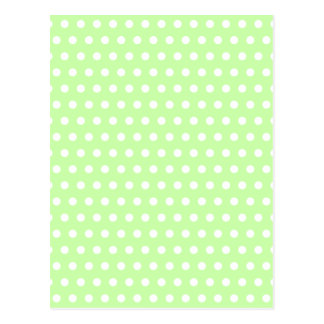 Green and White Polka Dot Pattern. Spotty. Postcard