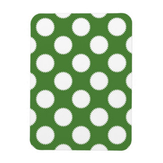 Green and White Polka Dot Magnets
