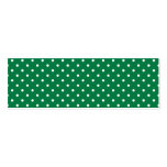 Green and White Polka Dots Business Card Templates