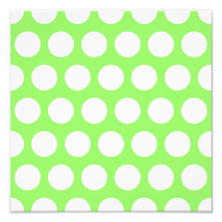 Green and White Polka Dots Photo Print