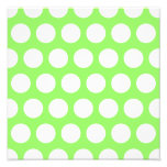 Green and White Polka Dots Photographic Print
