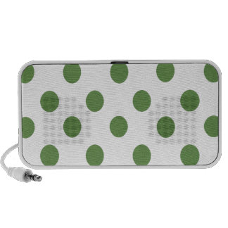 Green and White Polkadots Portable Speakers