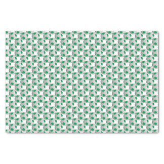 "Green and White Soccer Ball 10"" X 15"" Tissue Paper"