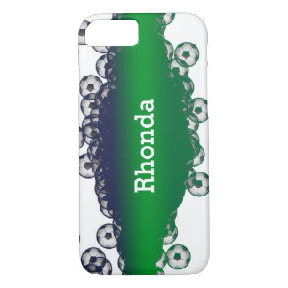 Green and White Soccer Balls iPhone 7 Case