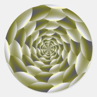 Green and White Spiral Sticker