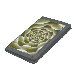 Green and White Spiral Wallet