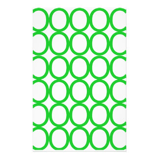 Green and White Splash of O's Stationery