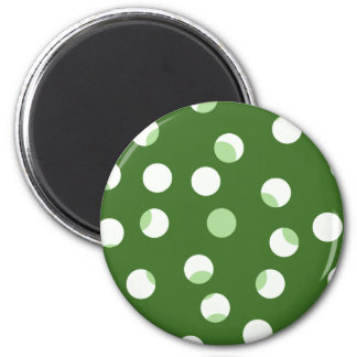 Green and white spotty pattern fridge magnet