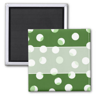 Green and white spotty pattern magnet