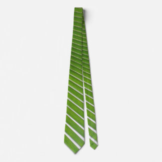 Green and White Striped Tie