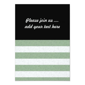Green and White Stripes 13 Cm X 18 Cm Invitation Card