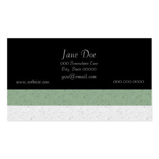 Green and White Stripes Pack Of Standard Business Cards