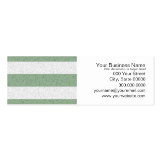 Green and White Stripes Pack Of Skinny Business Cards