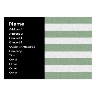 Green and White Stripes Pack Of Chubby Business Cards