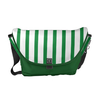 Green and White Stripes Commuter Bag