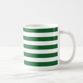 Green and White Stripes Mug