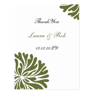 green and white ThankYou Cards Postcard