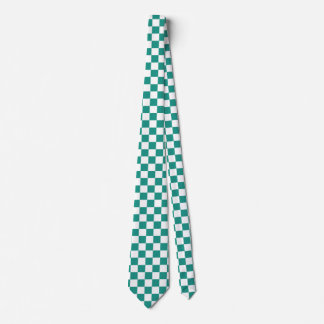 Green and White Tie