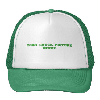 Green and white trucker hat