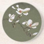Green and White Vintage Magnolia