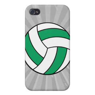 green and white volleyball iPhone 4/4S case
