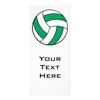 green and white volleyball rack card design