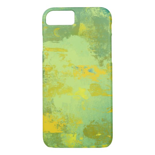 Green and Yellow Abstract Art Design iPhone 8/7