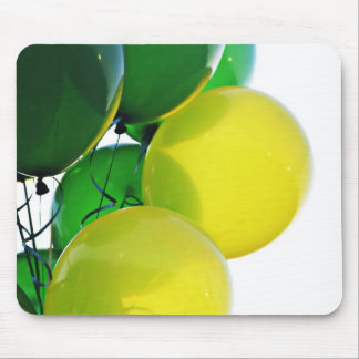 Green and Yellow Balloons Mouse Pad