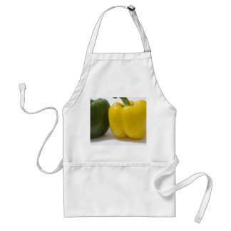 Green and Yellow Bell Peppers Aprons