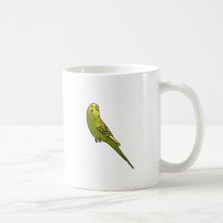 Green and yellow budgie basic white mug