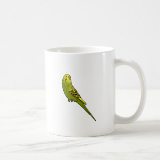 Green and yellow budgie mugs