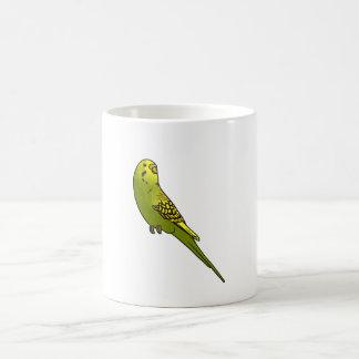 Green and yellow budgie mug