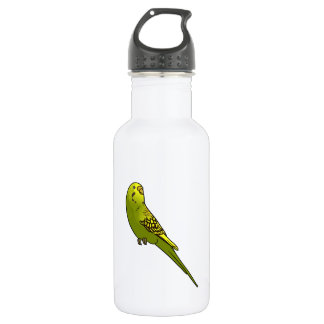 Green and yellow budgie 532 ml water bottle