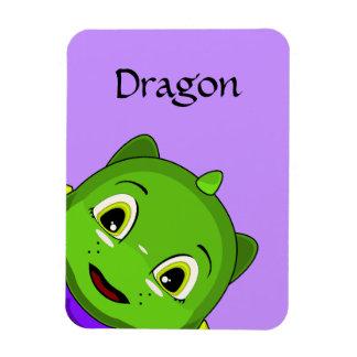 Green And Yellow Chibi Dragon Rectangular Magnets