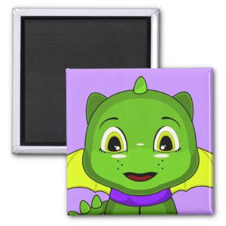 Green And Yellow Chibi Dragon Refrigerator Magnets